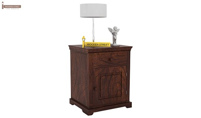 Charles Bedside Table (Walnut Finish)-1