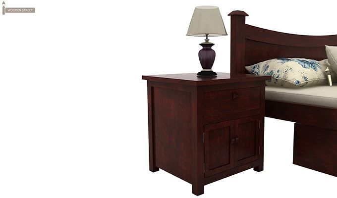 Christina Bedside Table (Mahogany Finish)-5
