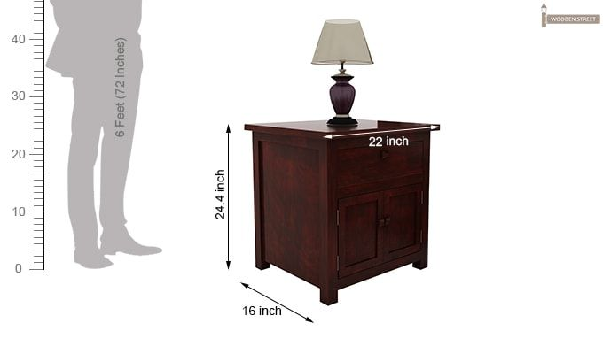 Christina Bedside Table (Mahogany Finish)-7