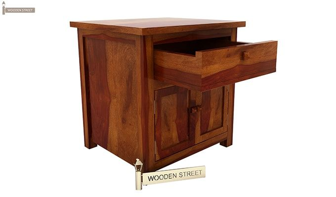 Christina Bedside Table (Honey Finish)-4