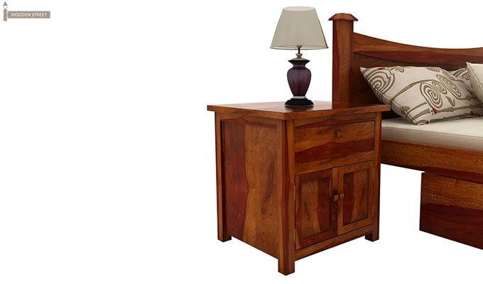 Christina Bedside Table (Honey Finish)-1