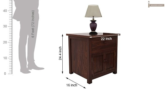 Christina Bedside Table (Walnut Finish)-6