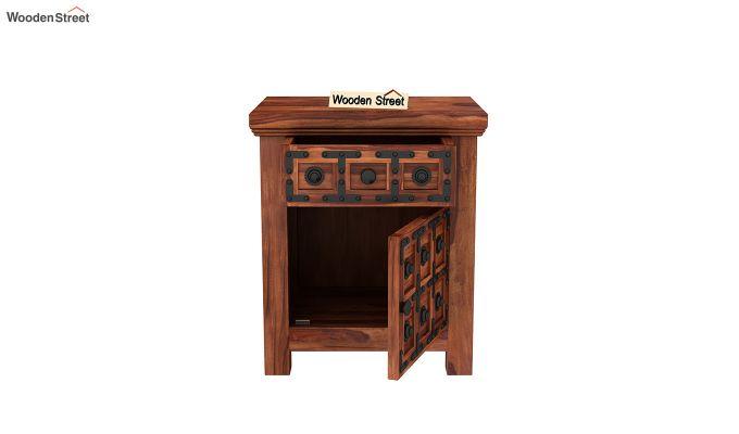 Citadel Bedside Table (Honey Finish)-5