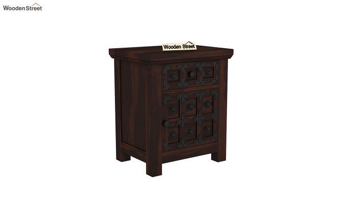 Citadel Bedside Table (Walnut Finish)-2