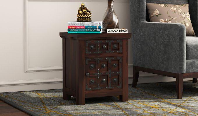 Citadel Bedside Table (Walnut Finish)-1