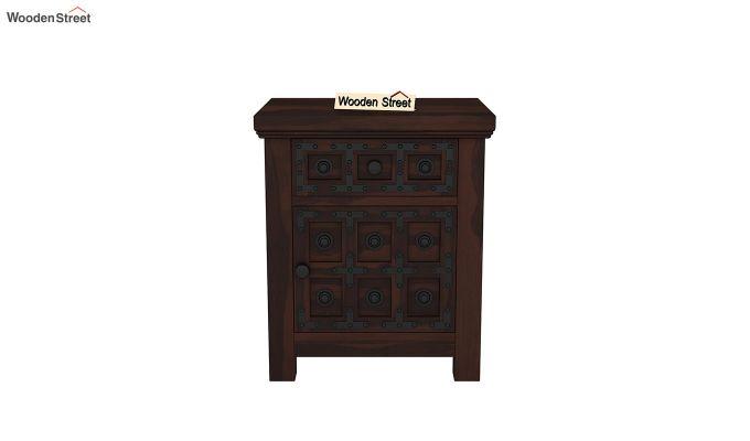 Citadel Bedside Table (Walnut Finish)-3