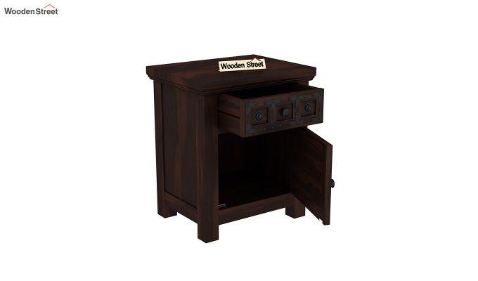 Citadel Bedside Table (Walnut Finish)-4