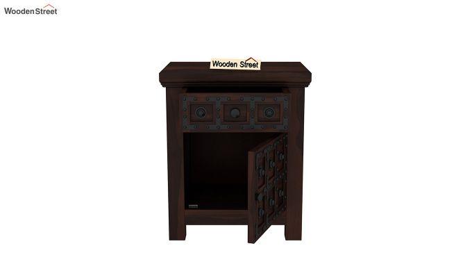 Citadel Bedside Table (Walnut Finish)-5