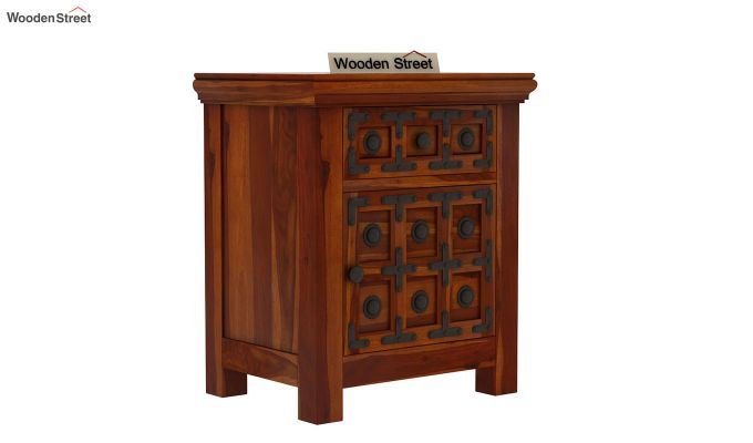 Citadel Bedside Table (Honey Finish)-2
