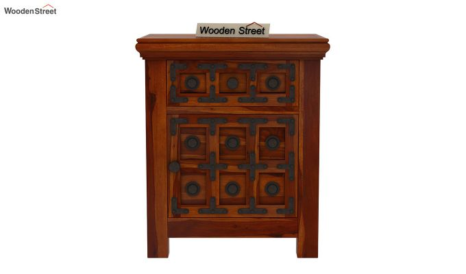 Citadel Bedside Table (Honey Finish)-3