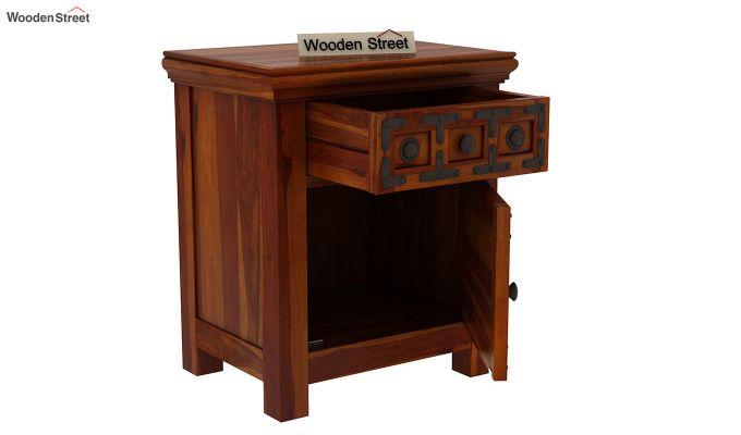 Citadel Bedside Table (Honey Finish)-4