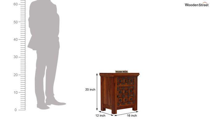 Citadel Bedside Table (Honey Finish)-6