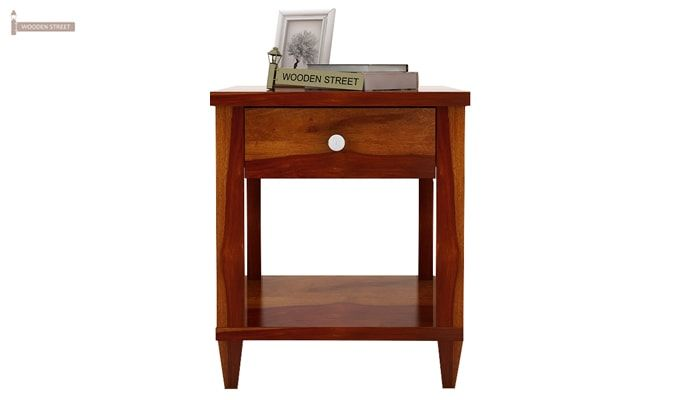 Corsey Bedside Table (Honey Finish)-3