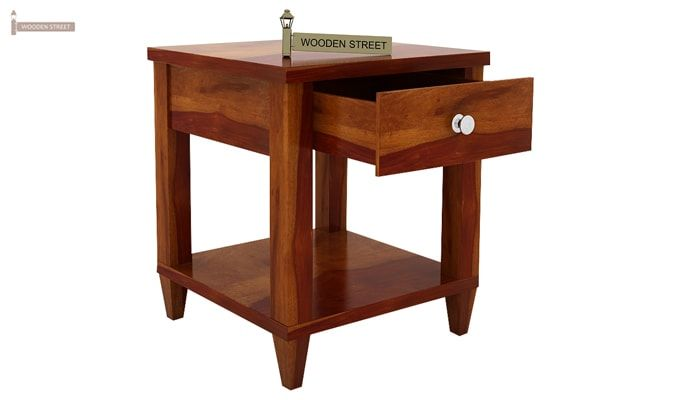 Corsey Bedside Table (Honey Finish)-5