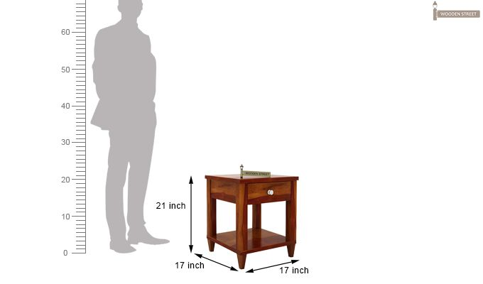 Corsey Bedside Table (Honey Finish)-6