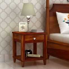 Corsey Bedside Table (Honey Finish)