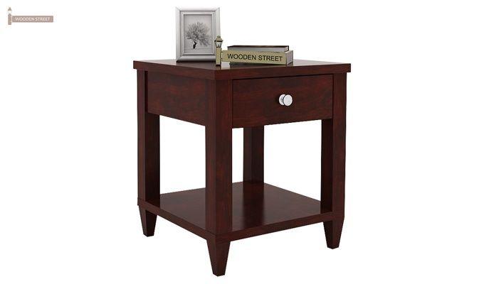 Corsey Bedside Table (Mahogany Finish)-1