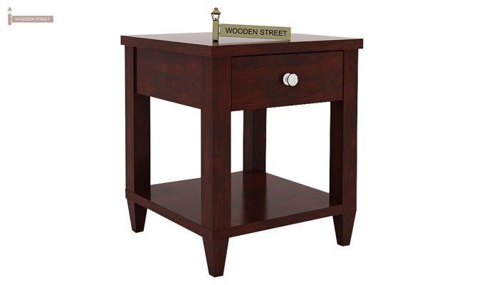 Corsey Bedside Table (Mahogany Finish)-3