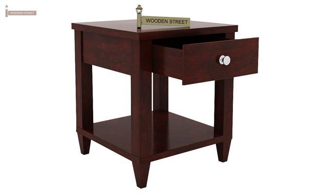 Corsey Bedside Table (Mahogany Finish)-4