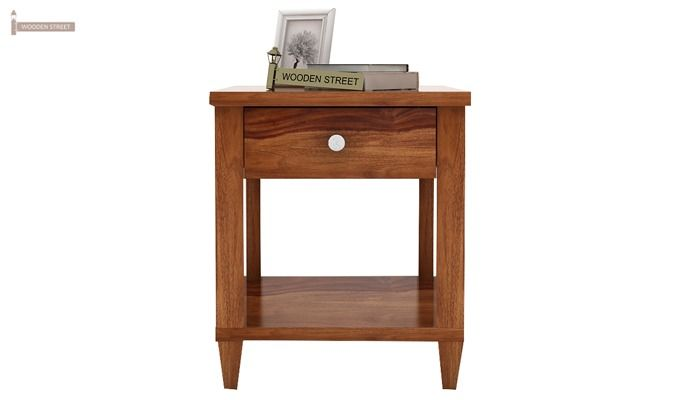 Corsey Bedside Table (Teak Finish)-2