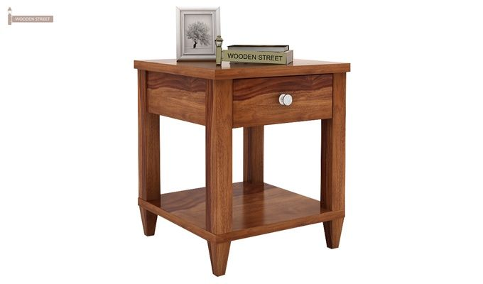 Corsey Bedside Table (Teak Finish)-1