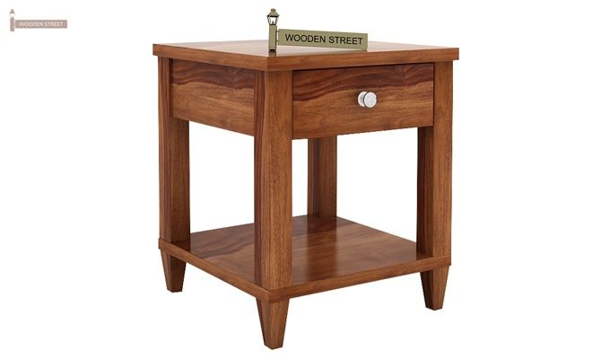 Corsey Bedside Table (Teak Finish)-3