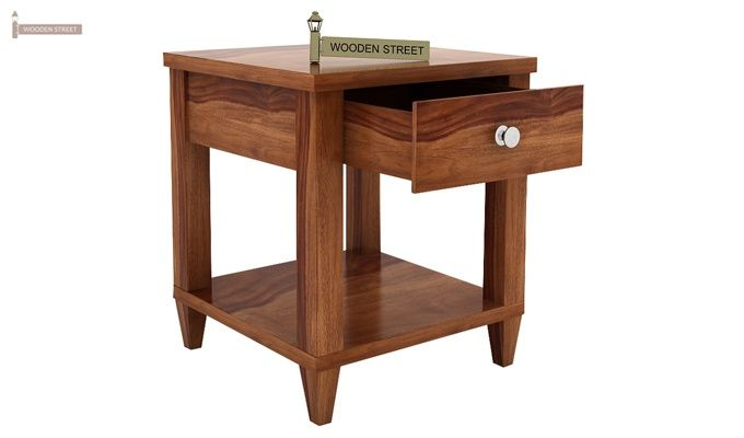 Corsey Bedside Table (Teak Finish)-4