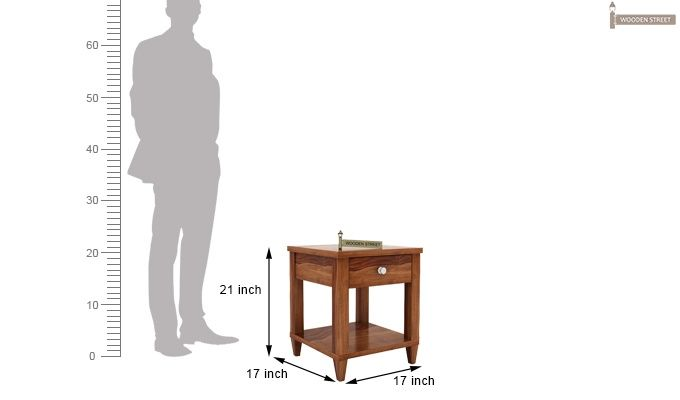 Corsey Bedside Table (Teak Finish)-5