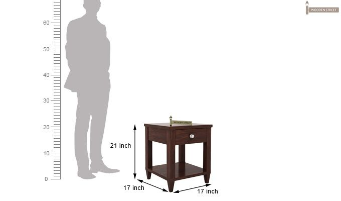 Corsey Bedside Table (Walnut Finish)-5