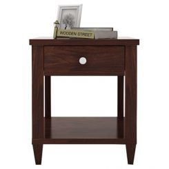 Corsey Bedside Table (Walnut Finish)