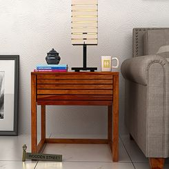 Costas Bedside Table (Honey Finish)