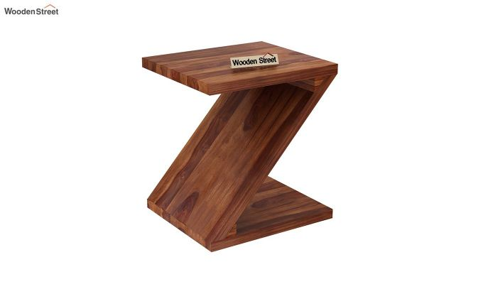 Cristoffer Bedside Table (Teak Finish)-2