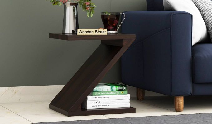 Cristoffer Bedside Table (Walnut Finish)-1