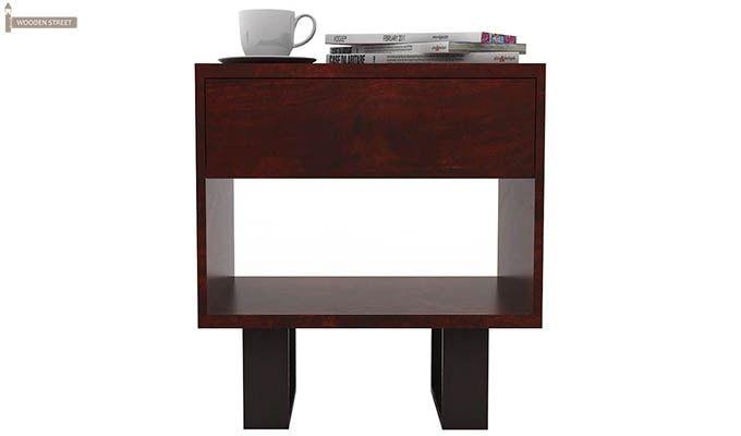 Curtiz Bedside Table (Mahogany Finish)-2