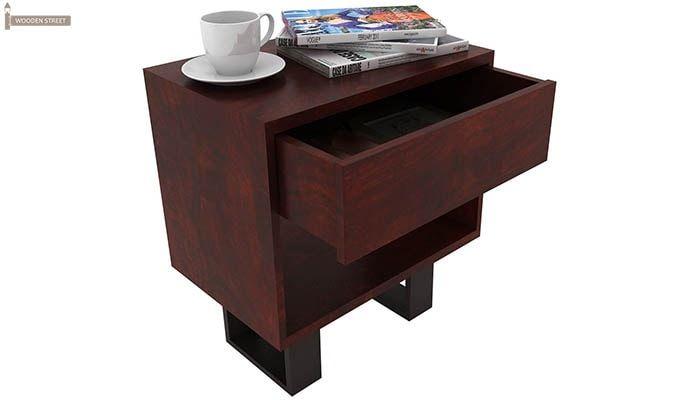 Curtiz Bedside Table (Mahogany Finish)-3