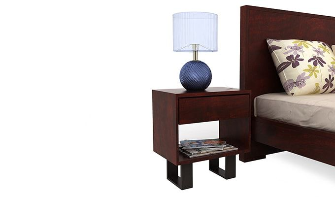 Curtiz Bedside Table (Mahogany Finish)-4