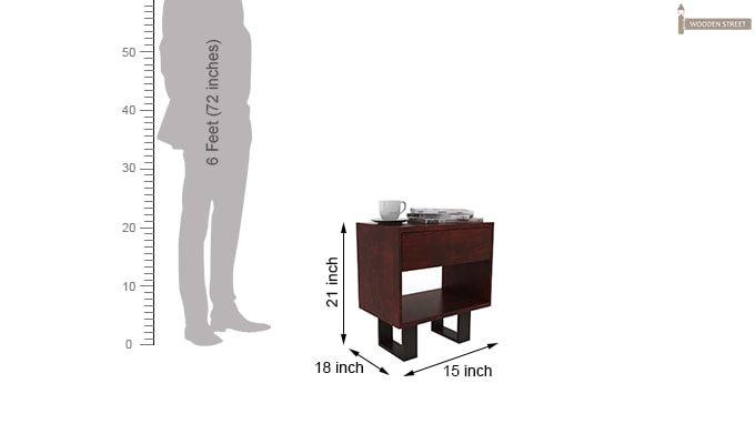 Curtiz Bedside Table (Mahogany Finish)-5