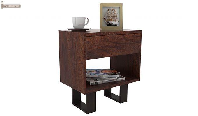 Curtiz Bedside Table (Walnut Finish)-1