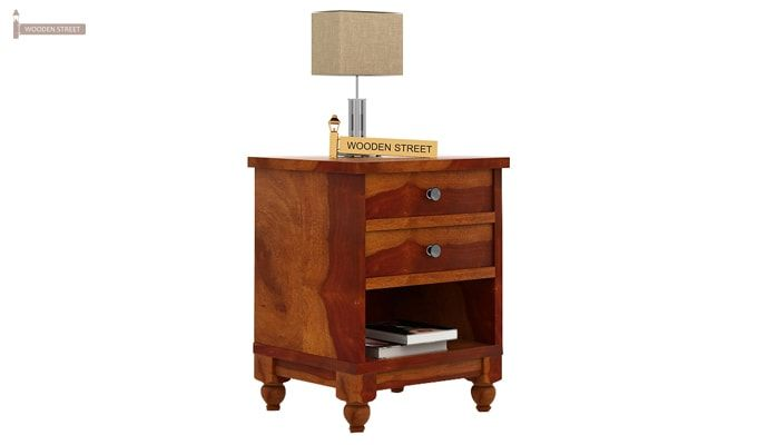 Dela Bedside Table (Honey Finish)-2