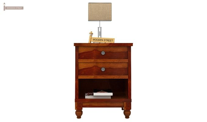 Dela Bedside Table (Honey Finish)-4