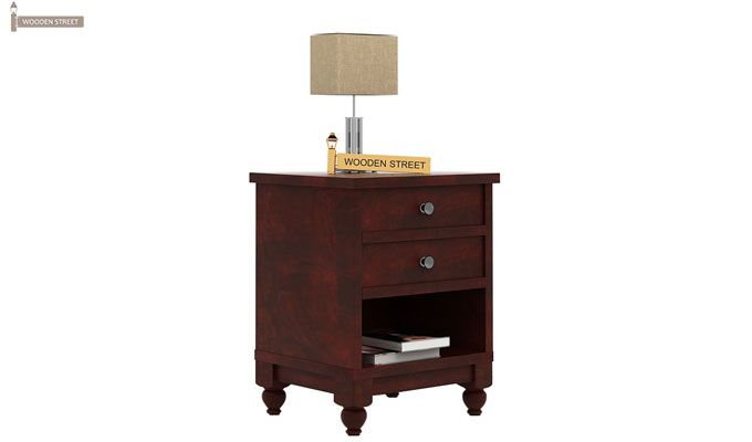 Dela Bedside Table (Mahogany Finish)-1
