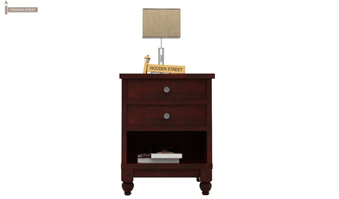 Dela Bedside Table (Mahogany Finish)-2