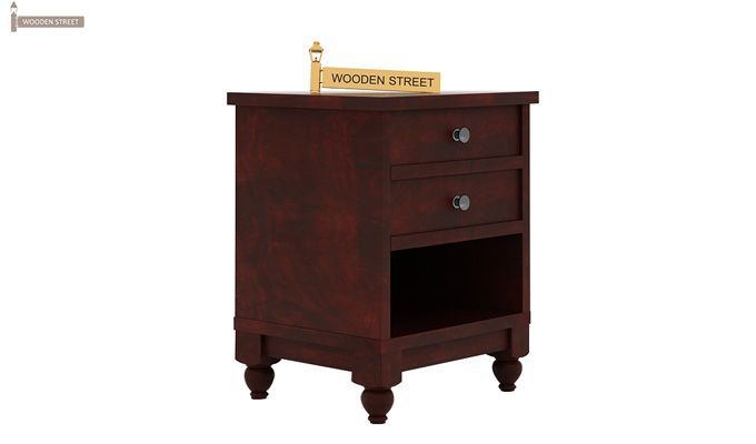 Dela Bedside Table (Mahogany Finish)-3