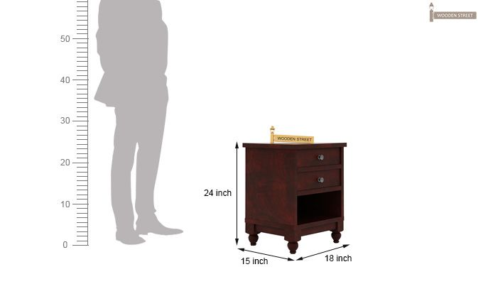 Dela Bedside Table (Mahogany Finish)-4