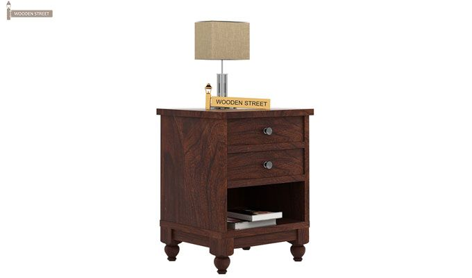 Dela Bedside Table (Walnut Finish)-1