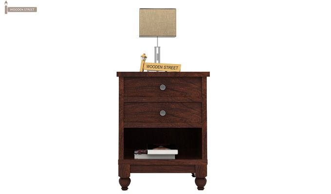 Dela Bedside Table (Walnut Finish)-2