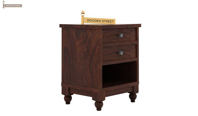 Dela Bedside Table (Walnut Finish)-3
