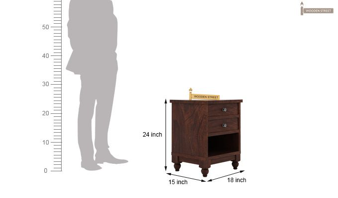 Dela Bedside Table (Walnut Finish)-4