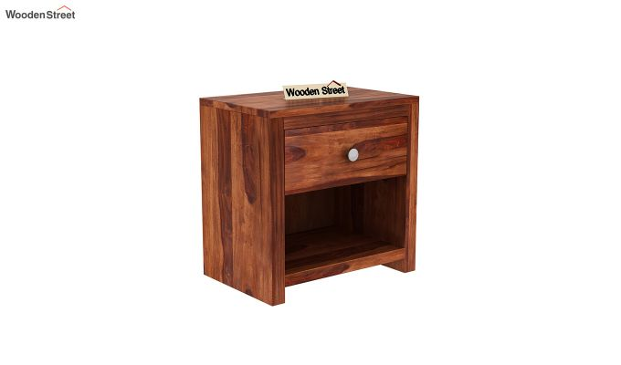 Denzel Bedside Table (Honey Finish)-2