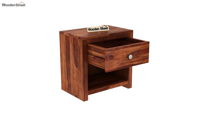 Denzel Bedside Table (Honey Finish)-4